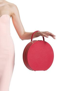 BUwood - Bumi 30cm Top Handle Bag in Red Calf Leather