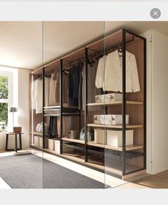 35 Best Walk in Closet Ideas and Picture Your Master Bedroom Looking for some fresh ideas to remodel your closet? Visit our gallery of leading best walk in closet design ideas and pictures. Open Wardrobe, Bedroom Wardrobe, Wardrobe Design, Wardrobe Closet, Closet Bedroom, Master Bedroom, Wardrobe Storage, Diy Bedroom, Walk In Closet Design