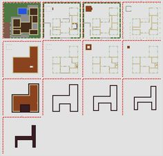 minecraft modern house blueprints layer by layer - Google Search