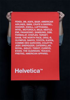 Helvetica Poster : Toby Ng Design  La Typo Helvetica chez les Marques
