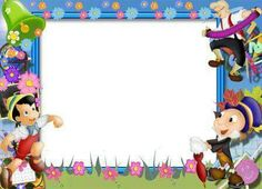 """Tell A Story"";  'Pinocchio & Mr. Cricket', as courtesy of Walt Disney  (picture frame)"