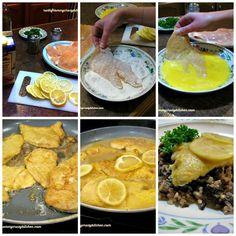 Chicken Francese Collage