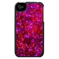 'ROSY SPARKLE' iPHONE 4 CASE, by The Flying Pig Gallery on Zazzle (lizadeyphoto) - This pretty, festive iPhone case features a close-up image of colorful, glowing holiday lights. Perfect for the holidays, or any occasion! Also available for iPhone 3.