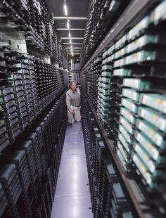 One of three NASA data centers (ASDC) that holds 16 Petabytes of data on tapes.