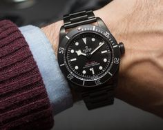 Tudor Heritage Black Bay Dark Watch Hands-On Tudor Black Bay Dark, Tudor Heritage Black Bay, Omega Seamaster Planet Ocean, All Black Watches, Cool Watches, Casual Watches, Men's Watches, Breitling, Die Tudors