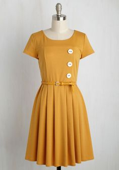 Happy Hosting A-Line Dress in Marigold, @ModCloth