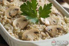 Receita de Risoto com cogumelo em receitas de microondas, veja essa e outras receitas aqui!