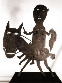 Untitled by Haitian artist & sculptor Georges Liautaud (1899-1991). via Raw Vision Magazine on facebook