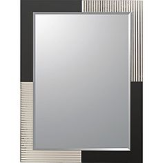 Brushed nickel bathroom mirror whimsical fabulous for Decorative mirrors for less