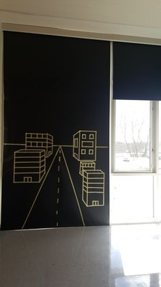 Perspective! Masking Tape Murals and Looking Up! - TMHS Art department