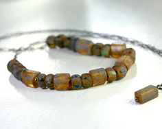 Sale. Czech Glass Necklace with Sterling by AllureStudioWorks, $28.40