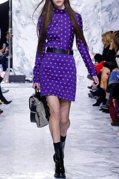 Purple Printed Skirt - FALL WINTER 2016 CARVEN