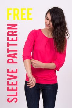 """free sleeve Sewing Pattern PDF for """"Liv"""" Shirt by pattydoo"""