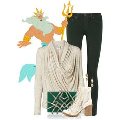 """""""King Triton"""" by animationchic on Polyvore"""