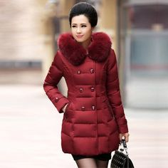 Decently 2015 Winter Women Down Jacket Slim Fashion Coat Duck Down ...
