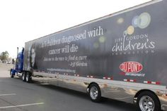 Our race hauler. This hauler will be at every race for the next to NASCAR Sprint Cup Races. Thank you to DuPont for partnering with us on this project! Childhood Cancer Awareness, Nascar Sprint Cup, Jeff Gordon, Racing, Foundation, September, Running, Auto Racing