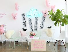 This pink vintage Disney birthday party, celebrating a girl's birthday, incorporates everything anyone obsessed with Disney princesses could dream of! Girls 3rd Birthday, Birthday Party For Teens, Frozen Birthday Party, Birthday Bash, Birthday Party Decorations, Birthday Crowns, Baby Birthday, Birthday Ideas, Princess Party Favors