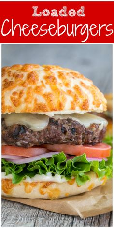 This Cheeseburger is so simple to make and is loaded with cheese! @natashaskitchen