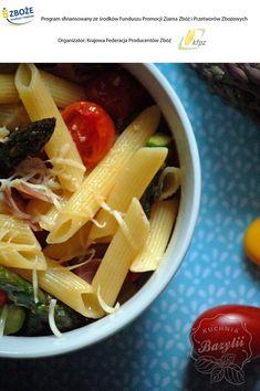 Wiosenna, piknikowa sałatka z makaronem - kuchniabazylii.pl - blog kulinarny Penne, Celery, Cantaloupe, Vegetables, Fruit, Blog, Vegetable Recipes, Blogging, Pens