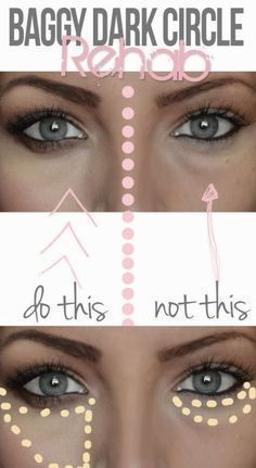 How to Apply Concealer to Hide Dark Under Eye Circles - Tips and Tricks for Undereye Concealer, Hiding Dark Circles Beauty Secrets, Diy Beauty, Beauty Makeup, Beauty Hacks, Beauty Care, Beauty Products, Beauty Skin, Homemade Beauty, Beauty 101