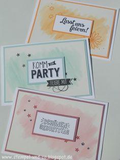 #Cards, #Karten, #Pastell, #Aquarelltechnik, #Stampinup, #newincolors