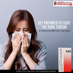 Dr.Reckeweg R88 drops are indicated for any viral type disease such as Viral Fever, Measles, Mononucleosis, Herpes, Flu, Swine Flu, Dengue, Hand Foot and Mouth disease(HFMD) etc. An effective Antiviral medicine that contains highly diluted energy derived from viruses like likecoxsackie, diphterinum, Herpes zoster, V-grippeetc. Safe & without side effects