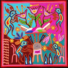 Huichol - yarn painting from Mexico