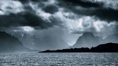 Monochromatic Lofoten by Jakub Polomski, via Behance