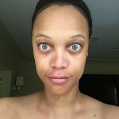 """Tyra Banks Goes Without Makeup and Says, """"You Deserve to See the REAL Me""""—See the Photo!  Tyra Banks, No Makeup"""