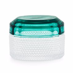 Normann Copenhagen Brilliant Box Small Turquoise: Brilliant is a range of small glass boxes by Normann Copenhagen with lids in a range of beautiful colours inspired by gems and precious stones.