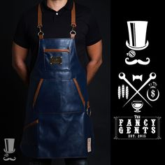 FancyGents Bartender Leather Apron