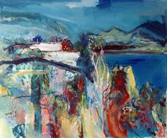 ARTFINDER: view from Nerja by Catalin ILINCA - sea cliffs and vegetation on the coast of Nerja, South of Spain. gesso, acrylic, varnish - 60x50 cm.