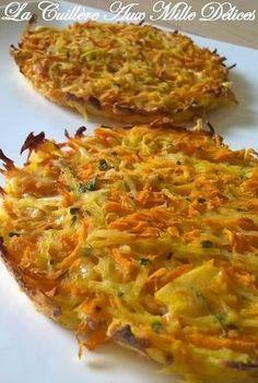 Galette de pommes de terre et carottes