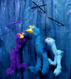 I loved playing with these bird marionettes when I was little. Still have them hanging in my room by my window! I got that purple one. c: So, I decided to try making a miniature clay birdy marionette and he turned out amazingly cute fully functional: http://www.etsy.com/listing/190995250/bird-marionette-miniature-figurine-blue