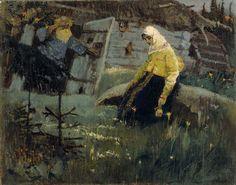 Нестеров М.. За приворотным зельем. 1888