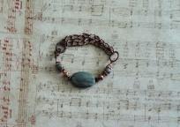 Green Agate/Copper Bracelet