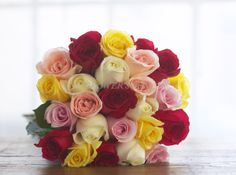 Wow!  Multi-colored #organic roses!  Who is getting these this Valentine's Day?