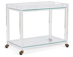 One Kings Lane - Total Transparency - Timothy Whealon Bar Cart, Clear