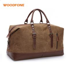 NDYE Large Capacity Men Hand Luggage Travel Bags Canvas Travel Bags Weekend Shoulder Bags Multifunctional Overnight