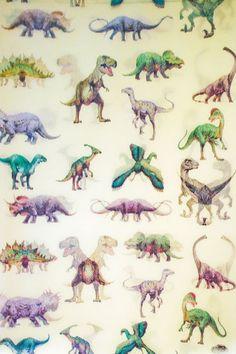 dinosaur water colors