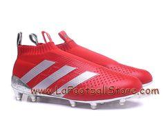 pretty nice 1af65 ce32a Adidas Homme Football Chaussure ACE 16+ Purecontrol Primeknit Terrain souple  Rouge Adidas Prix