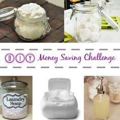 Join me for a 5 DAY money saving challenge and learn to make some of your favorite household items!