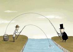 Strambotic » Veinte viñetas que explican de forma elocuente el capitalismo y su hija bastarda: la desigualdad
