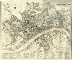 Newcastle Upon Tyne and Gateshead, 1851 | by Victoria Sage