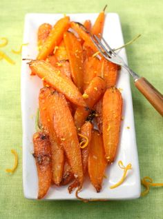 glazed carrots with maple syrup and orange zest. My mother made carrots this way growing up.... think I'll have to go back to making them her way!