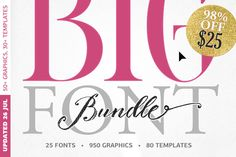 BIG BUNDLE - 98%OFF by BlessedPrint by Blessed Print on @creativemarket