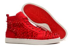 Christian Louboutin Louis Pik Pik High Sneakers Red