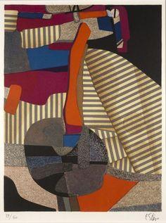 Maurice ESTÈVE (1904-2001)  Feuilleru, 1973  Lithographie en couleurs