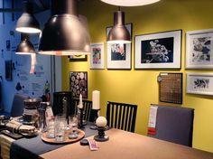 Un tocco di modernità con le lampade effetto lab di Ikea - A touch of modernity with the lab-lamps by Ikea.