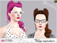 Set vintage hairstyles by Colores Urbanos - Sims 3 Downloads CC Caboodle